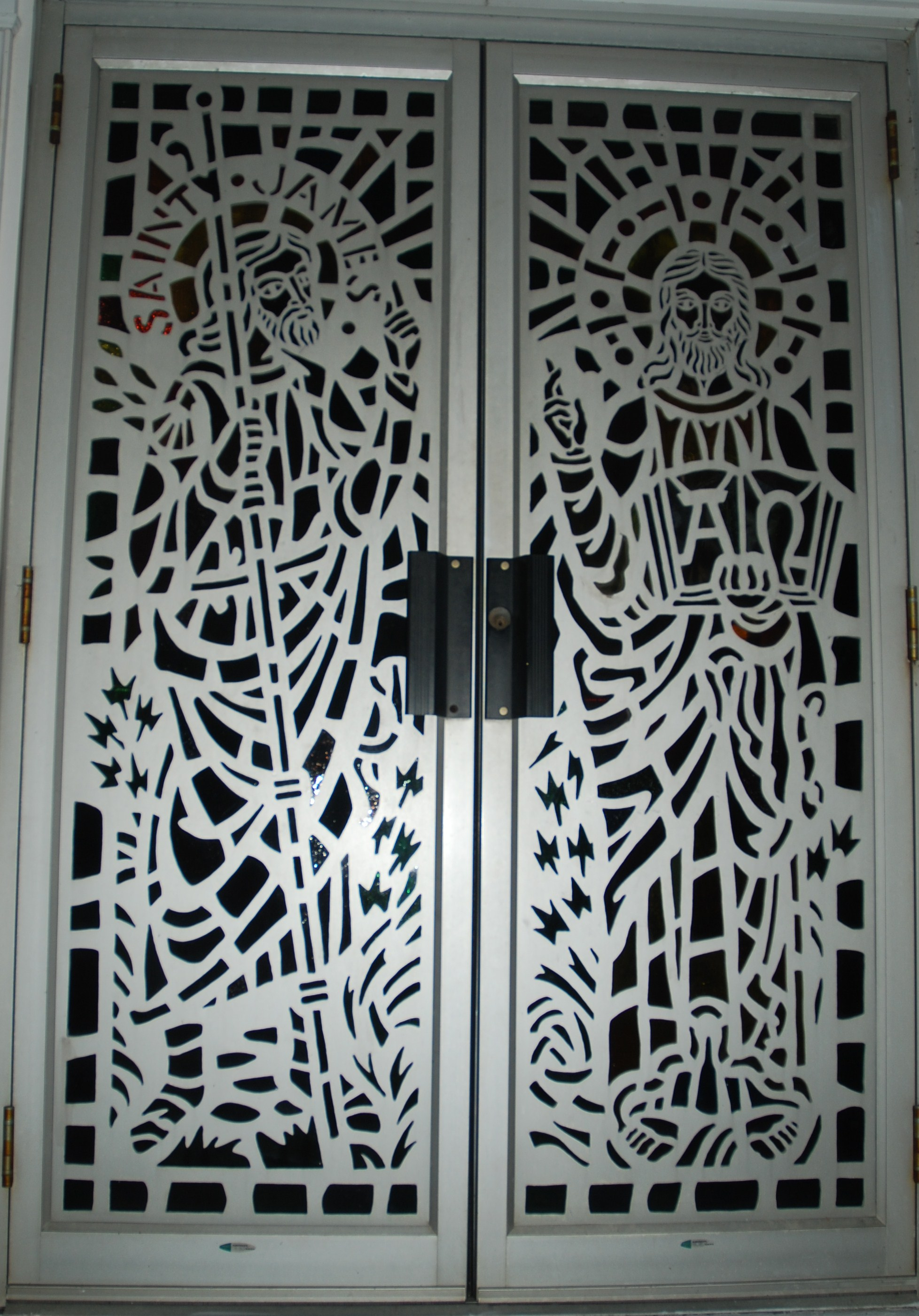 2802 #424E5C Glass And Metal Doors Metal Art Stained Glass pic Steel And Glass Doors 41311956