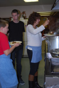 Servings Underway (November 2013 Spaghetti Supper)