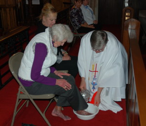 Washing of the Feet Ceremony on Maundy Thursday